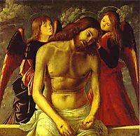 The Dead Christ Supported by Angels., c.1502, carpaccio