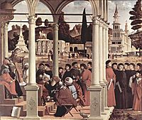 Debate of St. Stephen , 1514, carpaccio