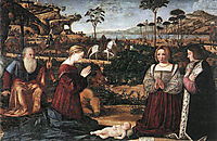 Holy Family with Two Donors, 1505, carpaccio