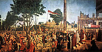 The Martyrdom of the Pilgrims and the Funeral of St. Ursula, from the St. Ursula Cycle, 1490-94 , 1493, carpaccio