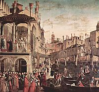 The Miracle of the Relic of the True Cross on the Rialto Bridge, 1494, carpaccio