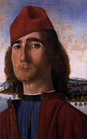 Portrait of an Unknown Man with Red Beret, 1493, carpaccio