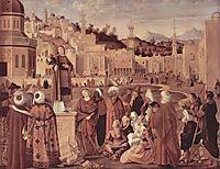 St. Stephen Preaching , 1514, carpaccio