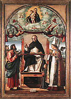 St. Thomas in Glory between St. Mark and St. Louis of Toulouse, 1507, carpaccio
