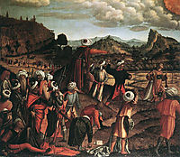 The Stoning of St. Stephen, 1520, carpaccio