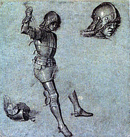 Three Studies of a Cavalier in Armor, carpaccio