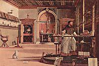 Vision of St. Augustine, 1507, carpaccio
