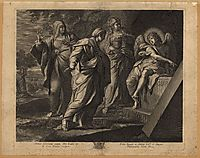Angel announcing the resurrection of Christ to the three Marys, 1609, carracci