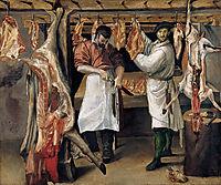 The Butcher`s Shop, carracci
