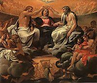 The coronation of the Virgin, carracci