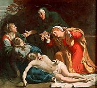 The Dead Christ Mourned (The Three Maries), 1606, carracci
