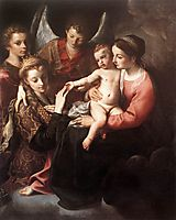 The Mystic Marriage of St Catherine, 1587, carracci