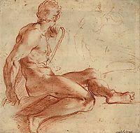Nude Study, carracci