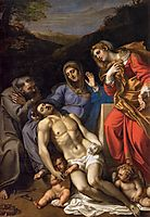 Pietà with St Francis and Mary Magdalene, 1607, carracci
