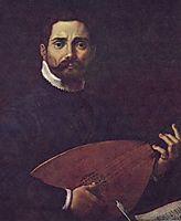 Portrait of Giovanni Gabrieli with the lute, c.1600, carracci