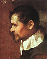 Self-Portrait in Profile, c.1600, carracci