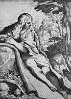 St. Magdalene in the Desert, 1591, carracci