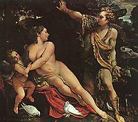 Venus, Adonis, and Cupid, 1590, carracci