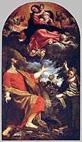 The Virgin Appears to St. Luke and Catherine, 1592, carracci