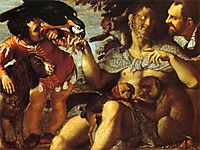 Hairy Harry, Mad Peter and Tiny Amon, 1600, carracciagostino