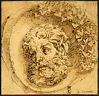 Head of a Faun in a Concave, 1595, carracciagostino