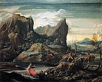 Landscape with Bathers, 1599, carracciagostino