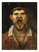 A Peasant Man, Head And Shoulders, Shouting, carracciagostino