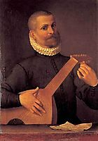 Portrait of a Lutenist (Portrait of the musician Orazio Bassani), c.1586, carracciagostino
