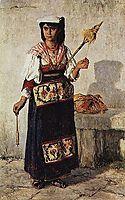 Pequena Fiandeira Napolitana, 1877, carvalho