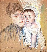 Baby Bill in Cap and Shift, 1889-1890, cassatt