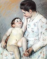 Baby-s First Caress, 1891, cassatt