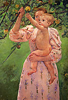 Baby Reaching For An Apple, 1893, cassatt
