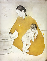 The Bath, 1891, cassatt