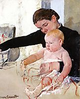 Bathing the Young Heir, 1891, cassatt