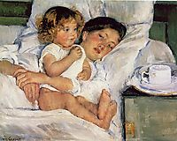 Breakfast in Bed, 1897, cassatt