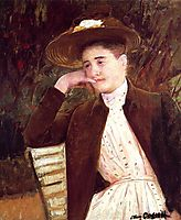 Celeste in a Brown Hat, 1891, cassatt