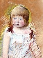 Child with Bangs in a Blue Dress, 1910, cassatt