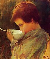 Child Drinking Milk, 1868, cassatt