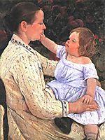 The Child`s Caress, 1890, cassatt