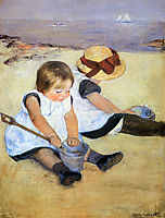Children Playing On The Beach, 1884, cassatt