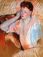 Clarissa, Turned Left, with Her Hand to Her Ear, 1895, cassatt