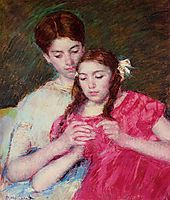 The Crochet Lesson, 1913, cassatt