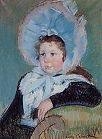 Dorothy in a Very Large Bonnet and a Dark Coat, 1904, cassatt