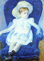 Elsie in a Blue Chair, 1880, cassatt