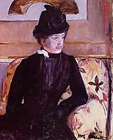 Mrs. Gardner Cassatt in Black, 1880, cassatt
