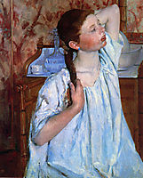 Girl Arranging Her Hair, 1886, cassatt