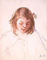 Head of Francoise Looking Down, no.4, 1908, cassatt