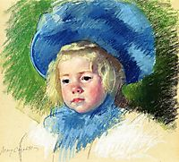 Head of Simone in a Large Plumes Hat, Looking Left, 1903, cassatt