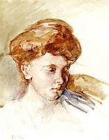 Head of a Young Woman, 1873, cassatt