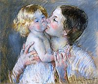 A Kiss for Baby Anne (no. 3), 1897, cassatt